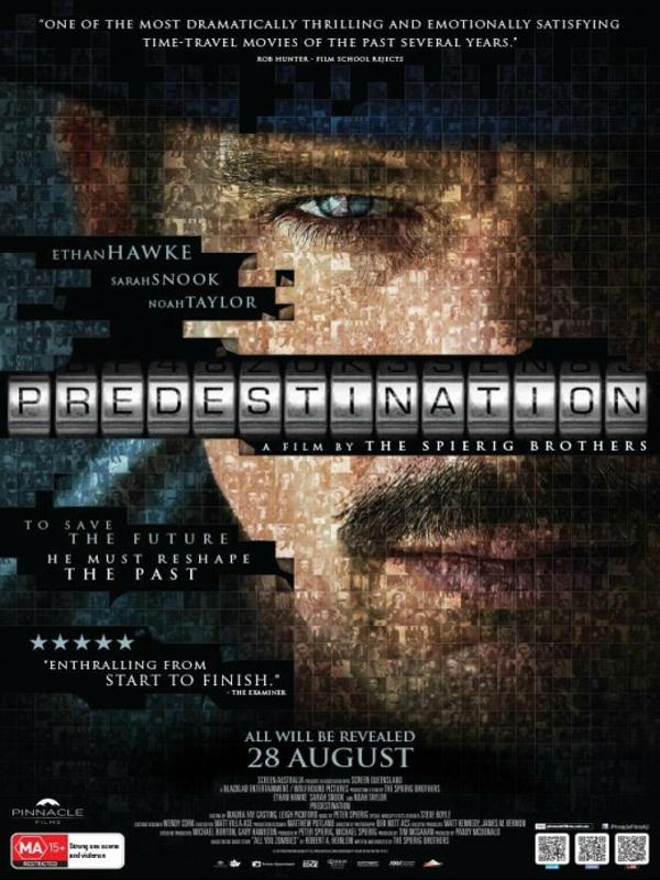 Kader / Predestination (2014) IMDb: 7.4  Tıpkı bir önceki filmlerinde olduğu gibi yine ünlü aktör Ethan Hawke ile işbirliği yapan Spierig Kardeşler bu sefer Looper ile Azınlık Raporu'nun karması olacak bir bilimkurgu-gerilim çeşitlemesine imza atıyorlar! Yılın sürpriz polisiye soslu bilimkurgusal hadiselerinden biri olmaya aday film kendi kulvarında bir hayli iddialı görünüyor !  http://www.imdb.com/title/tt2397535/